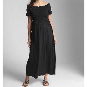 GAP Maternity off-shoulder maxi dress, NWT